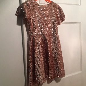Other - Zara kids girls champagne pink sequin party dress